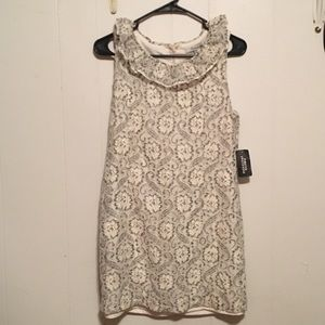 Forever 21 grey/cream colored dress, size medium
